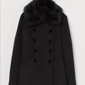New Coat with Faux Fur Collar